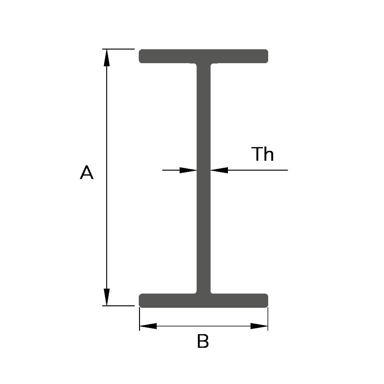 """Sezione """"IPE"""" PULTRUDED PROFILE"""