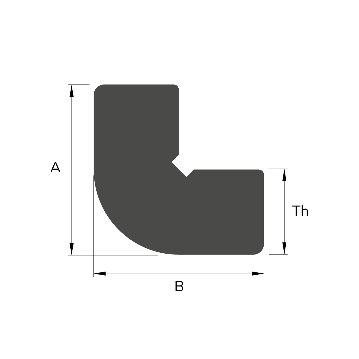 Sezione CORNER PULTRUDED PROFILE, TYPE 1
