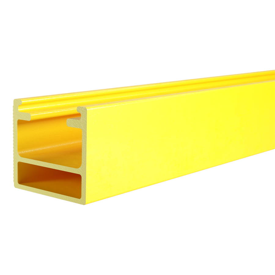 Immagine RECTANGULAR TUBE PULTRUDED PROFILE, SHAPED TYPE 1