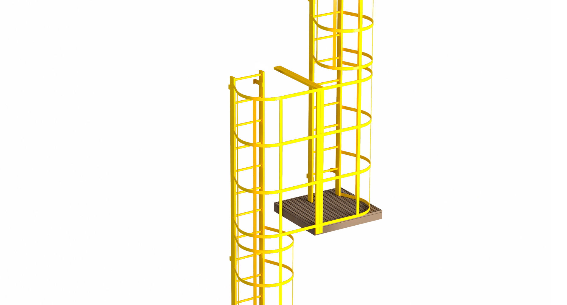 Immagine VERTICAL LADDERS WITH SAFETY CAGE